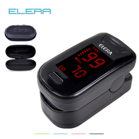 ELERA Digital Oximetro De Dedo With Case Pulse Oximeter Blood Saturometro Monitor SPO2 PR Oximetro De