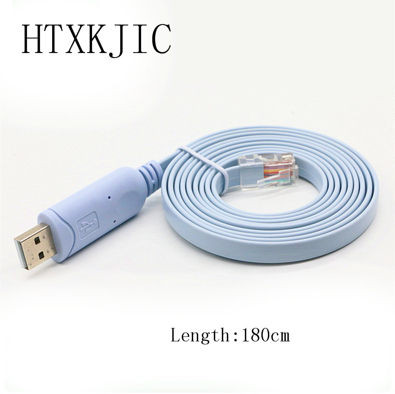 1.8M Length Cable USB TO RJ45 Console Serial Console Cable Express Network Routers Cable For Cisco Router For HUAWEI win8 10 android mac ftdi ft230x usb uart for galileo gen2 console cable program cable ttl 232r 3v3