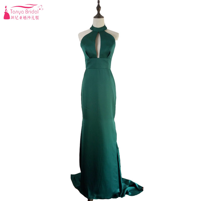 Sexy Dark Green Mermaid   Prom     Dresses   Deep V-Neck Backless Long elegant Simple Evening   Dresses   Celebrity Cheap   Dresses   Z819