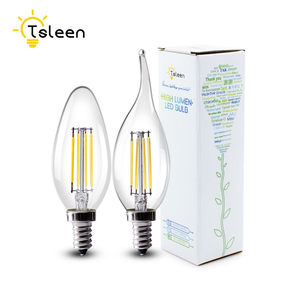 Aliexpress buy tsleen cheapledlampen voor binnen 10pcs aliexpress buy tsleen cheapledlampen voor binnen 10pcslot retro e12 e14 candle lamp 4w 8w edison bulbs filament led light 110v220v from reliable parisarafo Image collections