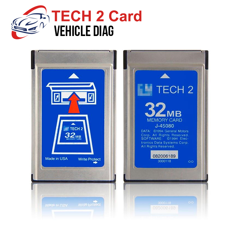 For GM Tech2 Card With 6 Software Tech 2 Diagnostic Tool For Holden/Opel/G M /SAAB/ISUZU/Suzuki  Tech2 Saab 32 MB Memory Card