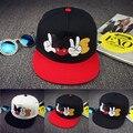 2016 nova marca de verão dos desenhos animados Mickey boné de beisebol Snapback para mulheres dos homens bonito rato tampas de Hip Hop chapéu Casquette