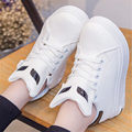 2016 New Women leather flat Casual Walking shoes outdoor joker Apartment size 35-40 zapatos mujer White black red ladies shoes