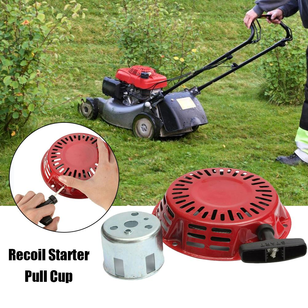 Lawn Mower Engine Motor Replace Recoil Starter with Start Cup Fit for <font><b>Honda</b></font> Gx120 <font><b>Gx160</b></font> Gx200 <font><b>Generator</b></font> 4/5.5/6.5hp image