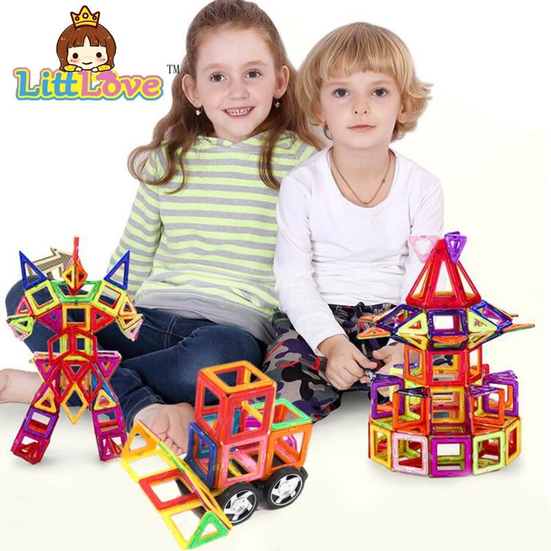 100% Kwaliteit Littlove 107 Stks Big Size Magnetische Bouwstenen Modellen Speelgoed Kits Magnetische Designer Baksteen Technics Educatief Speelgoed Voor Kinderen