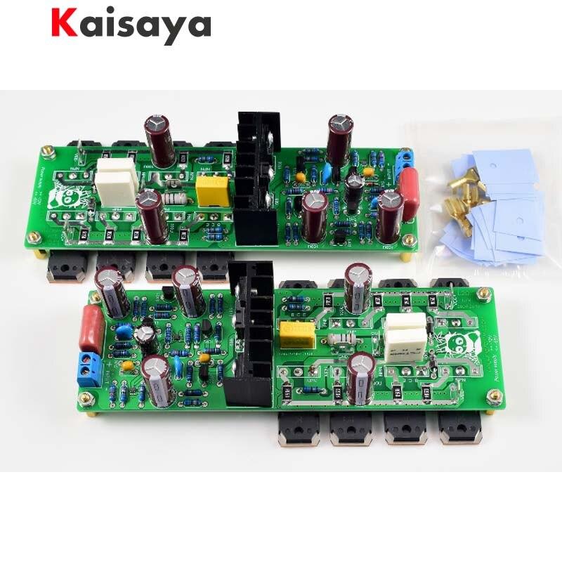 2pcs L20 5 250W x 2 Audio Power Amplifier finished Board HIEND Ultra low Distortion KEC