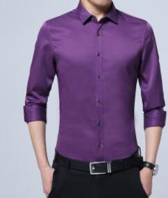 Paragraphs spring 2018 men's cultivate one's morality business casual thin shirt--dbg-EE108
