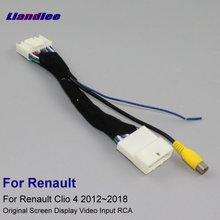 Liislee 24pins провод для Renault Clio 4 2012 ~ 2018 автомобиль оригинальный Экран-типный коннектор парковки задним ходом Камера RCA входной кабель адаптера