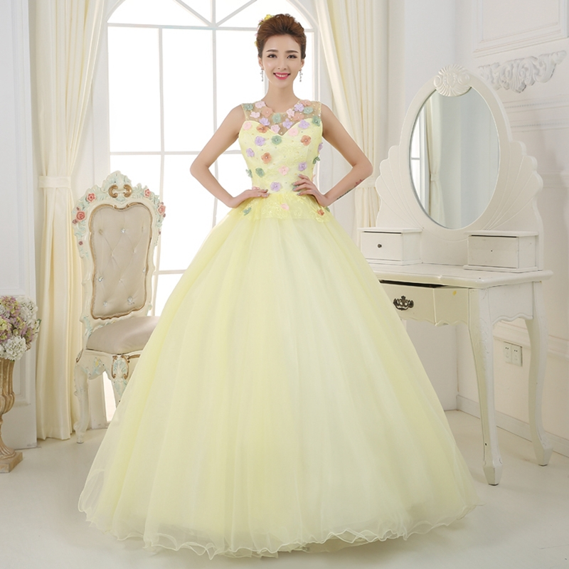 Aliexpress.com : Buy Light Yellow Quinceanera Dresses Ball Gowns ...