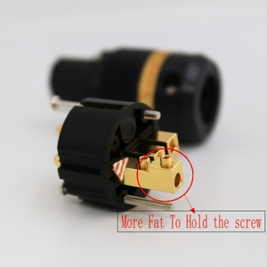 Image 3 - Viborg VE501G+VF501G 99.99% Pure Copper 24K Gold Plated Schuko Power Plug Connector IEC Female Plug DIY Mains Power Cord Cable