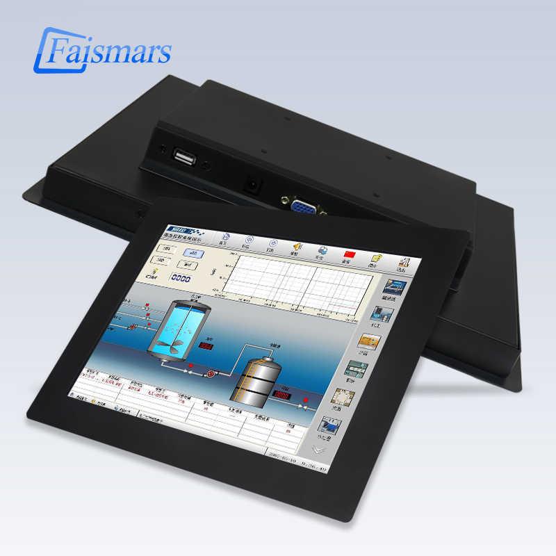"""Faismars 17-дюймовый резистивный сенсорный ЖК-монитор с интерфейсом HDMI 17 """"металлический корпус четырехпроводной с сенсорным экраном, промышленный монитор"""
