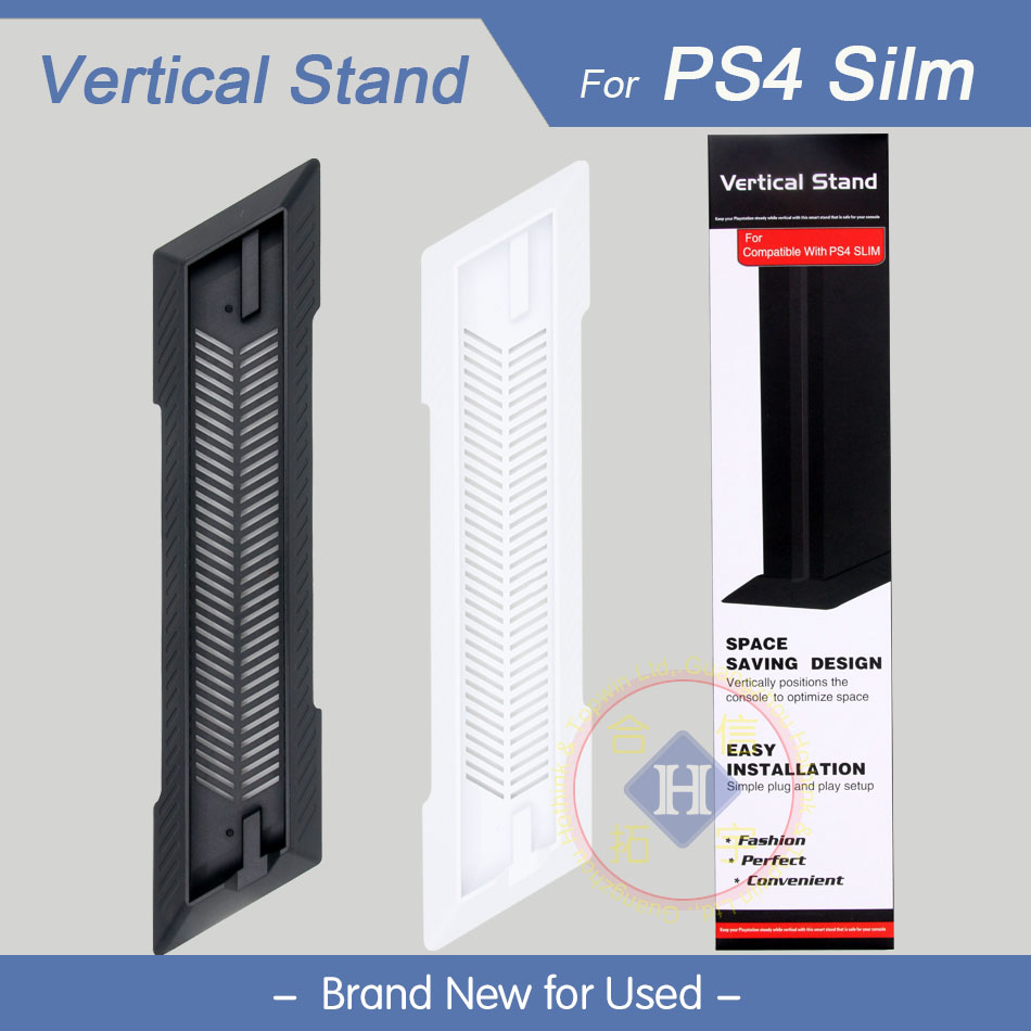 HOTHINK Hot New 1pcs For Sony PS4 Slim PlayStation 4 Slim Console Vertical Stand Mount Dock Holder PS4 Slim accessories