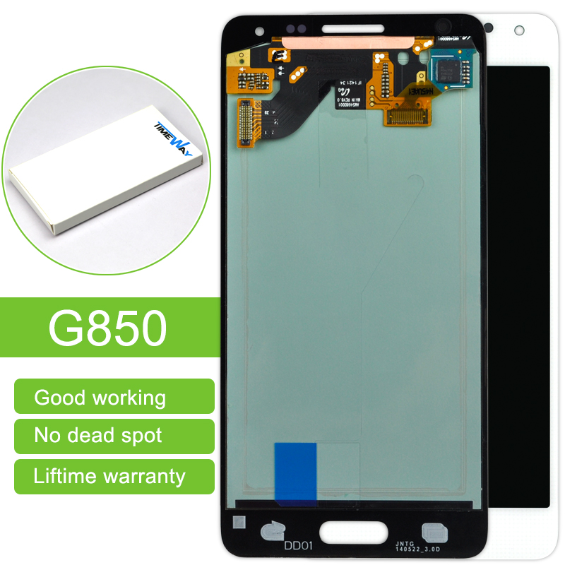 DHL 10 pcs/lot 100% Tested New LCD For Samsung Alpha G850 SM-G850F G850Y LCD Display and Touch screen digitizer black white