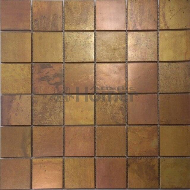 Fesselnd Freies Verschiffen, Bronze Mosaik Fliesen 48x48mm Metall Messing Mosaik Für Schlafzimmer  Wand Wohnzimmer Wandfliesen