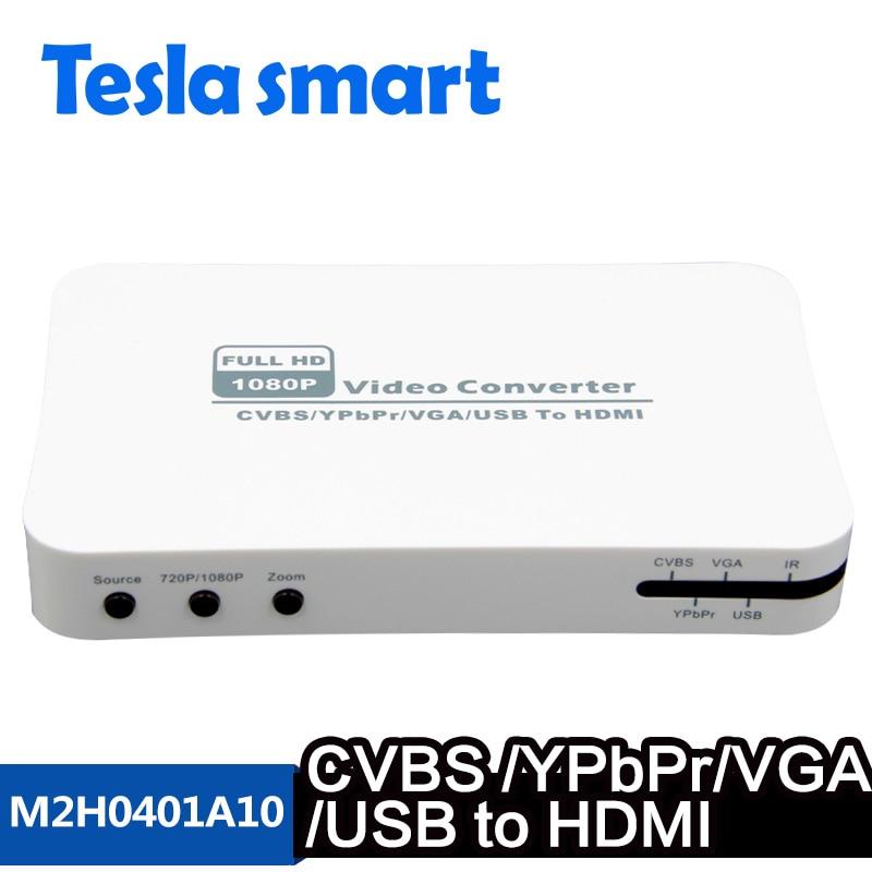Kvm-switches Tesla Smart Hohe Qualität Hdmi Multifunktionale Konverter Usb 2.0 Zu Hdmi Konverter Vga/ypbpr/cvbs Zu Hdmi Konverter Unterstützung 1080 P Elegante Form