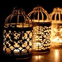 Multi Kinds Fashion Birdcage Shape Iron Craft Candlestick Wedding Decoration Dining-table Decorative Candle Holder