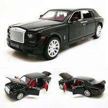 Rolls Royce Phantom limousina extendida para niños, juguete de aleación fundida, modelo de vehículo de Metal, colección de regalo, 1:32, envío gratis
