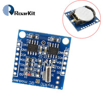 Free Shipping 20pcs Lot The Tiny RTC I2C Modules 24C32 Memory DS1307 Clock RTC Module For