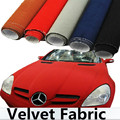 135*50CM DIY Decoration Auto Motorcycle Car Styling Sticker Velvet Fabric Interior/outside Car Change Color Film