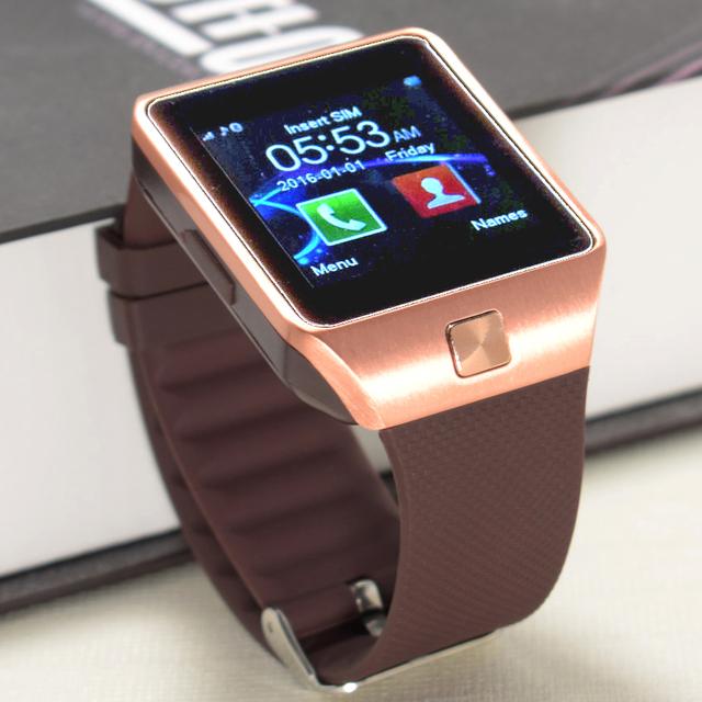 Langtek smart watch dw12 com câmera cartão sim smartwatch para telefones android ios do bluetooth relógio de pulso suporte a idiomas múltiplos