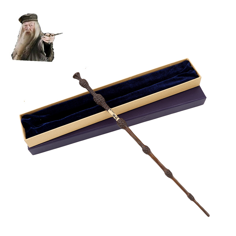 Metal Core Albus Dumbledore Magic Wand/ Harri Potter Magical Wand/ Harry Potter Stick /High Quality Gift Box Packing 5pcs set movie cosplay albus dumbledore the elder magic wand harry potter core toys in box collection with gift box set
