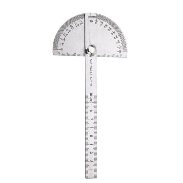 Rvs 180 graden Gradenboog Hoekzoeker Rotary Meten Heerser Voor Houtbewerking Gereedschap voor Meten Hoeken