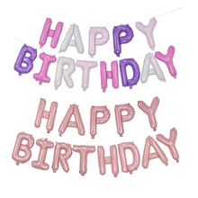 13pcs/set Happy Birthday Letter Foil Balloons Baby Shower Su