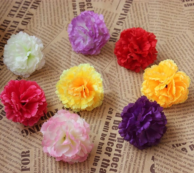 5cm50pcs small fabric lilac flower artificial silk carnation heads 5cm50pcs small fabric lilac flower artificial silk carnation headswedding flower hanging ball mightylinksfo