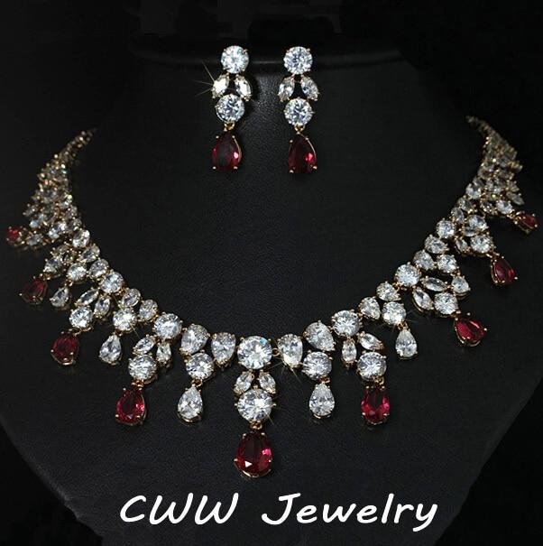 Дубай Дизайн Свадебные Украшения Позолоченный Большой Teardrop Свадебное Ожерелье И Серьги Наборы Аксессуаров Для Невесты T151