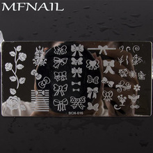 1Pcs New Rose Flower Beauty Designs BCN-016  Nail Stamping Plates Stainless Steel Art Stamp Template Manicure Tools