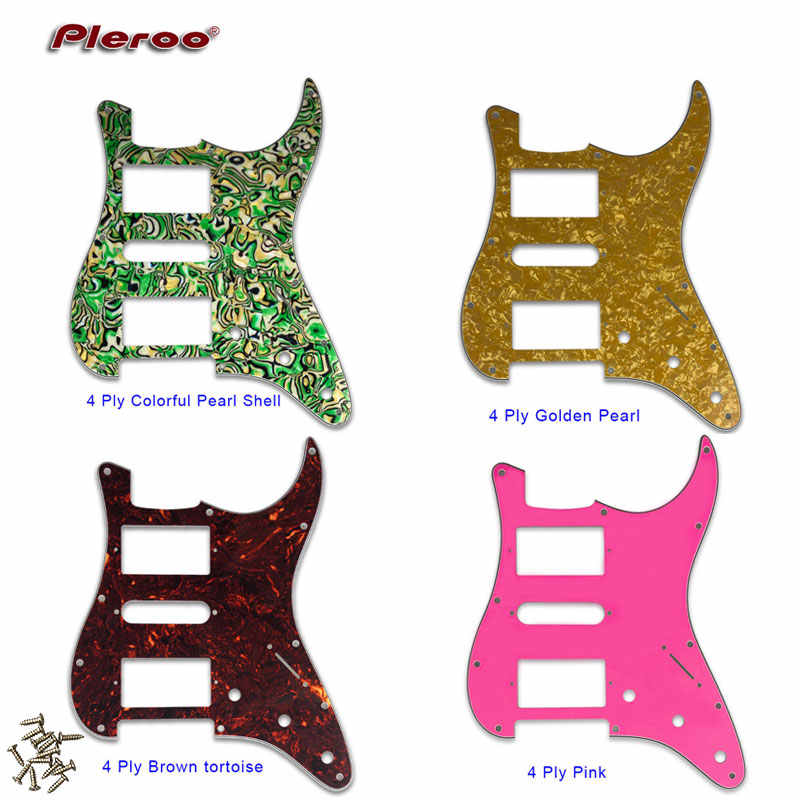 Quality Electric Guitar Pickguard 11 Holes Scratch Plate HSH PAF Humbucker coil For USA\ Mexico Fd Stratocaster Guitar Parts