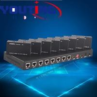 1 до 8 HDMI для одного CAT6 Splitter Extender 50 м 1080 P 3D 1x8 hdmi передатчик конвертер 8 получать 1 выход HDMI