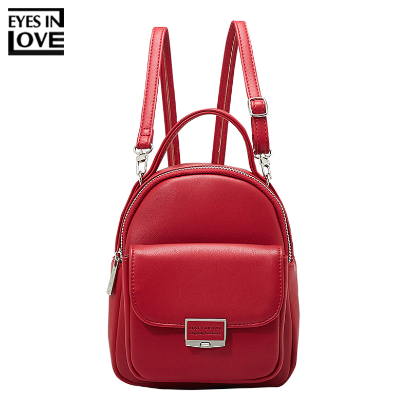 Fashion Backpack Women Multi-function Shoulder Bag Women's Small Backpack Female Leather Girl Purse Ladies Shoulder Mini Bolsa