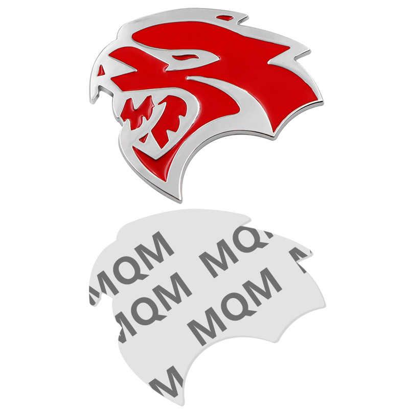 1 pièces 3D métal tête de tigre Logo animal autocollant arrière coffre emblème Badge pour Jeep Cherokee Wrangler ZJ WJ WK XK Chrysler Aspen