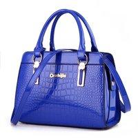 Fashion Women's Handbags Brand Crocodile PU Leather Zipper Lady One Shoulder Bag Casual Messenger Totes Bags Case Female Purses