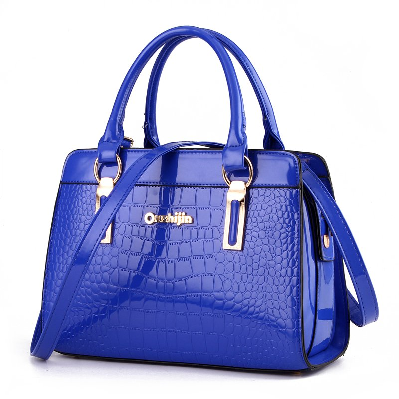 Fashion Women's Handbags Brand Crocodile PU Leather Zipper Lady One Shoulder Bag Casual Messenger Totes Bags Case Female Purses caker brand women large pu casual totes lady patchwork handbags vintage shoulder bags female panelled jumbo messenger bags