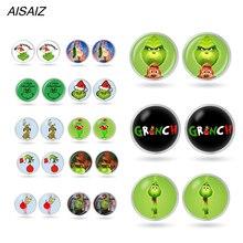 Хит, серьги-гвоздики в форме грифа, стеклянные круглые серьги в виде животных для сережек в стиле аниме, детские игрушки, рождественский подарок