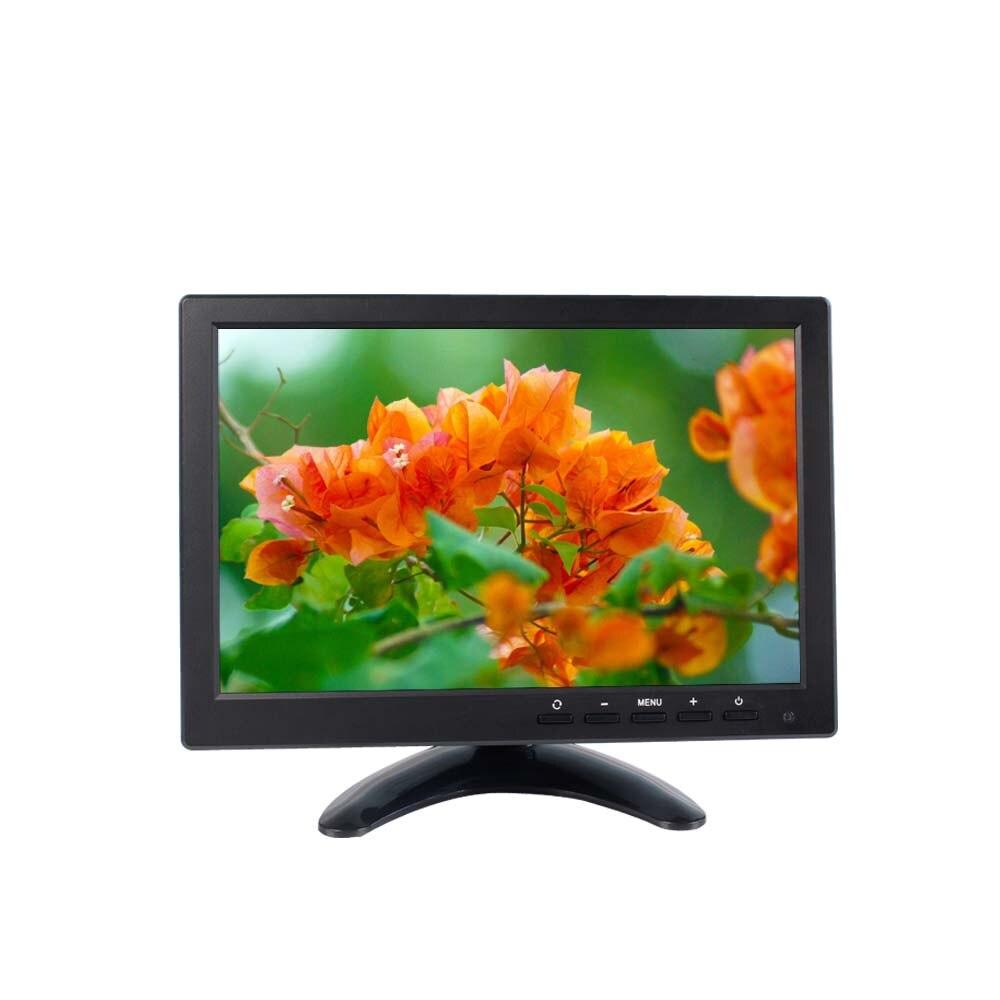 10.1 pouce 4:3 LCD HD écran numérique Moniteur De Voiture 2 Entrées Vidéo AV Entrée Autonome Moniteur avec VGA HDMI AV USB BNC/TV SH10198