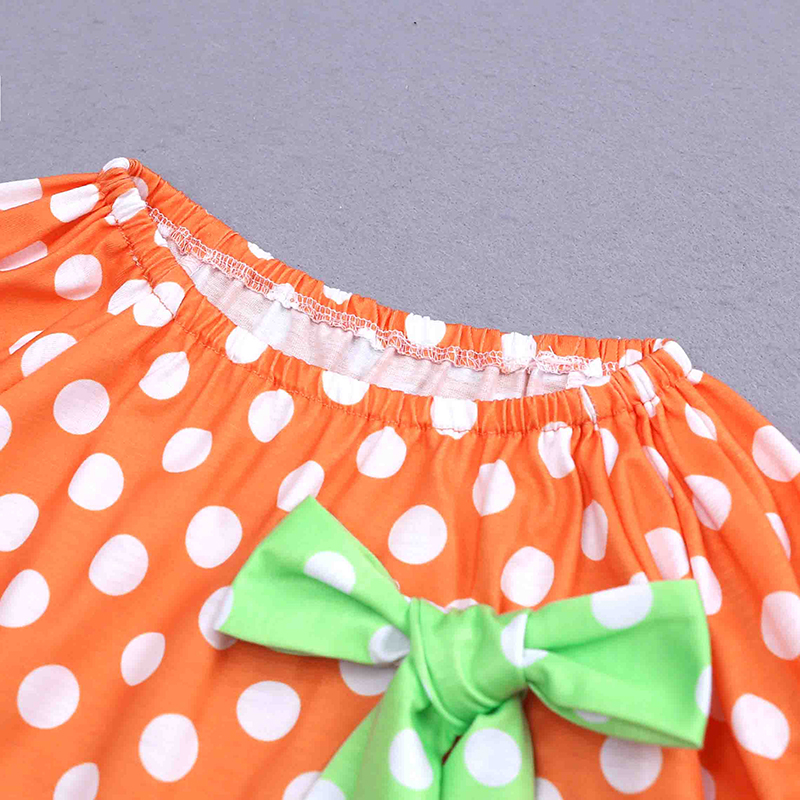 95fabf4d5 2018 Girls Dress Autumn bowknot pumpkin embroider girls Dresses for ...