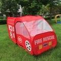 Portátil engraçado Caminhão de Bombeiros Jogar Tenda Crianças Pop Up Ao Ar Livre Indoor Playhouse Toy Presente Para Crianças Crianças