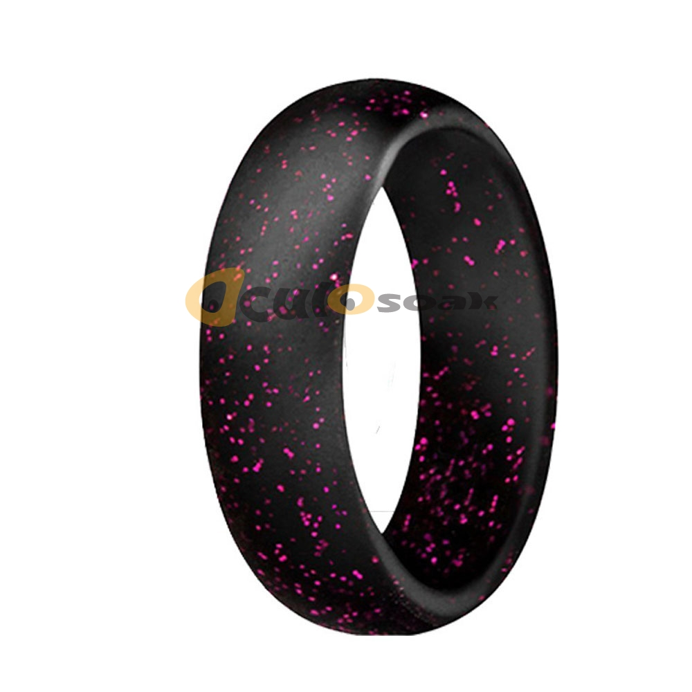 5 7mm Size 4 10 Food Grade FDA Silicone Ring Hypoallergenic Crossfit Flexible Sports Rubber Finger Rings For Women Wedding Gift in Rings from Jewelry Accessories
