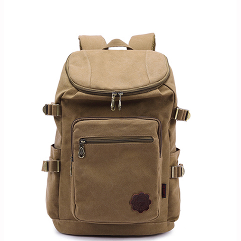 KAUKKO Quality Canvas Large Capacity Backpack Men Luggage Shoulder Bag Man Computer Back ...