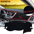 For Hyundai Tucson 3rd 2016 2017 LHD Car Dashboard Carpet Protective Pad Interior Decoration Summer Supplies Auto Accessories