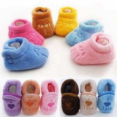 116885dfe063 Baby toddler shoes coral fleece antiskid soft bottom floor socks 0 1 ...
