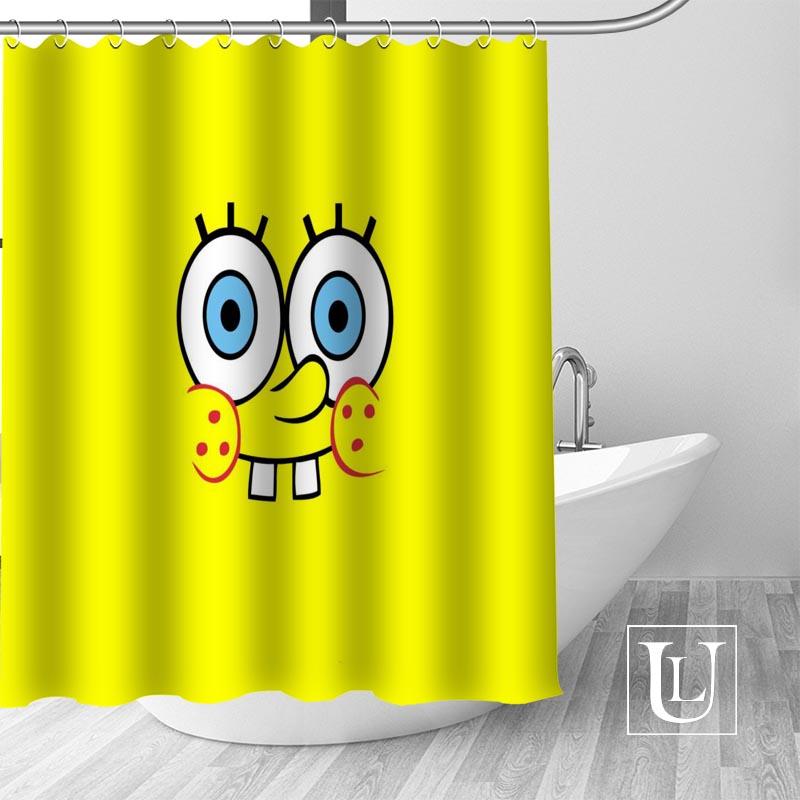 SpongeBob Dusche Vorhänge Custom Design Kreative Dusche Vorhang Badezimmer Wasserdicht Polyester Stoff