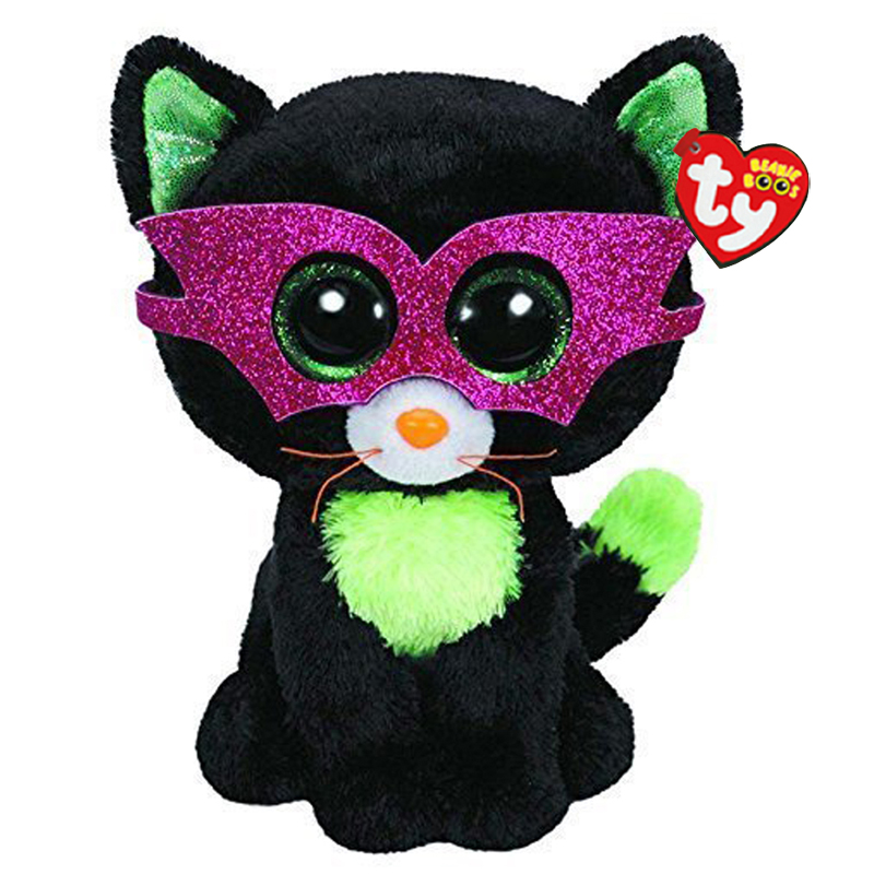 d622815b2a0 Ty Beanie Boos Stuffed   Plush Animals Black Cat With Mask Toy Doll With  Tag 6