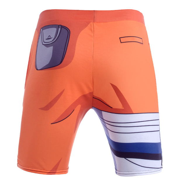 Newest Summer Anime Dragon Ball Z Super Saiyan Tights Shorts Men Spandex Quick Dry Shorts