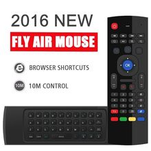 MX3 Portable 2.4G Wireless Remote Control Keyboard Controller Air Mouse for Smart TV Android TV box mini PC HTPC black