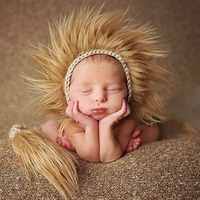 Lion Forest King Animal Infant Boy Girl Beanie Cap Hat Birthday Photography Prop