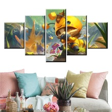 5 Panel LOL Teemo Game Canvas Printed Painting For Living Room Wall Art Decor HD Picture  Artworks Poster quadro cuadros